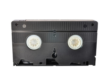 Classic Video tape isolated on white background, clipping path i