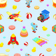 Seamless pattern with the toys - 79477741