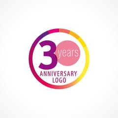 30 anniversary circle logo