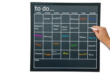 To-Do-Liste - Freizeitstress