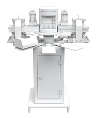 Screen printing machine carousel