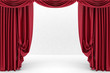 Open red theater curtain. 3d illustration - 79479741
