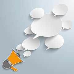 Bevel Speech Bubbles Megaphone PiAd