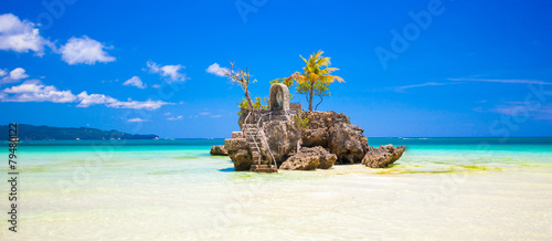 Foto op Plexiglas Eiland Willy's rock on island Boracay, Philippines