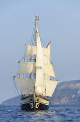 Windjammer auf hoher See