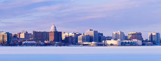 Winter panorama of Madison