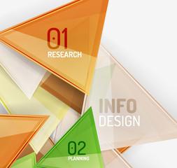 Business modern colorful geometric infographics