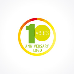 10 anniversary circle logo
