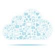 Cloud computing. Icons set vector illustration.