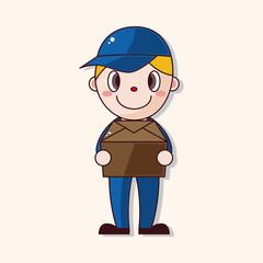 deliveryman theme elements vector,eps
