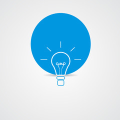 Bulb light icon for idea
