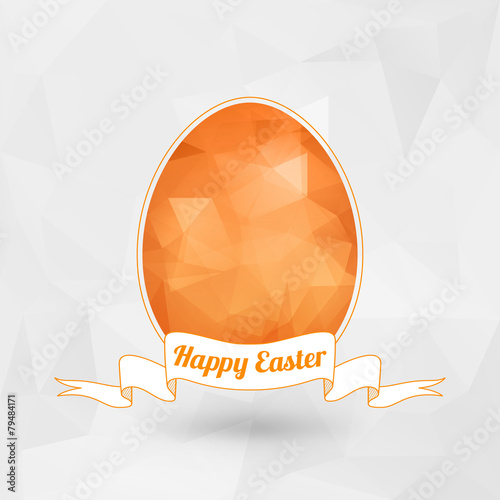 Happy Easter holiday greeting card