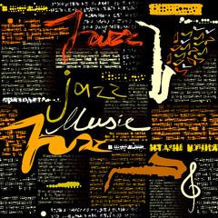 Black newspaper Jazz music.