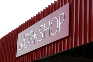 Picture of rooftop Workshop Text Sign
