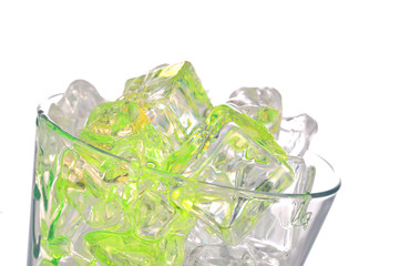 cocktail and ice cubes