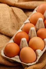 Package with eggs