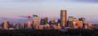 Panorama of Calgary at sunrise