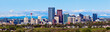 canvas print picture - Panorama of Calgary and Rocky Mountains
