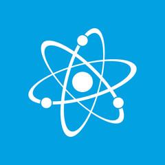 Atom white icon