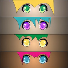 Set of anime Eyes