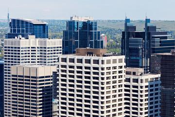 Modern downtown of Calgary