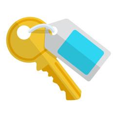 Icono llave con etiqueta