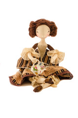 doll  with kettle teapot