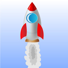 Vector illustration of a rocket