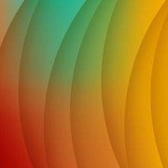 Abstract colorful curves background.