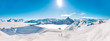 Panorama of Mountain Range Landscape at Meribel in French Alps. - 79488944