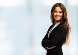 Portrait of a businesswoman. Bright background - 79488942
