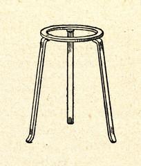 Laboratory burner tripod