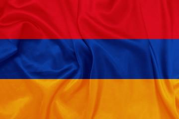 Armenia - Waving national flag on silk texture