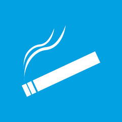Cigarette white icon
