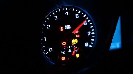 tachometer car