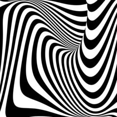 Design monochrome vortex movement illusion background
