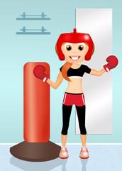 girl boxe