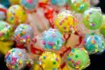 Colorful and joyfull lollipops