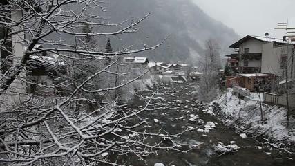 Winter landscape. Mayrhofen, Austria
