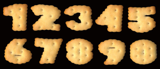 Figures of cracker biscuits