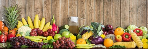 Fotobehang Keuken Fruits and vegetables organics