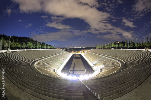 Staande foto Athene Panathenaic olympic stadium in Athens, Greece