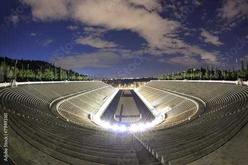 Aluminium Athene Panathenaic olympic stadium in Athens, Greece
