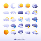 Fototapety 25 high quality vector weather icons