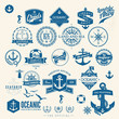 Set Of Vintage Retro Nautical Badges And Labels - 79493506