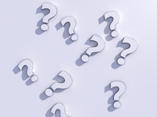 Question marks 3d