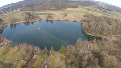 Baggersee - Luftaufnahme
