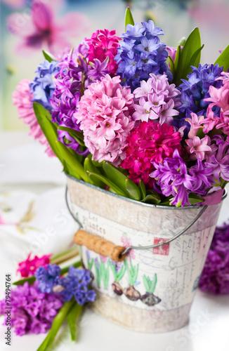 Aluminium Lilac Multicolored hyacinths