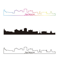 Jackson Skyline linear style with rainbow