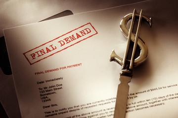 Final demand notice